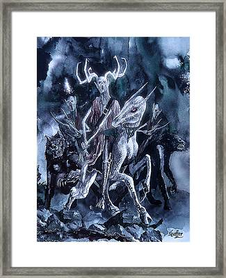 Framed Print featuring the painting The Horned King 2 by Curtiss Shaffer