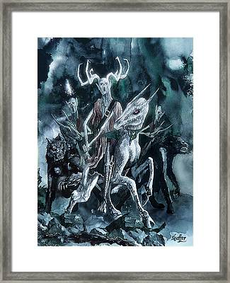 The Horned King Framed Print by Curtiss Shaffer