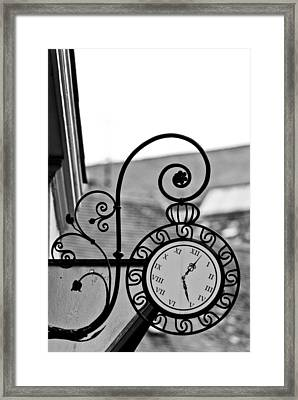 The Horologists Sign Framed Print by Gabor Fichtacher
