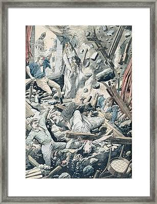 The Horrible Consequences Of A Terrible Earthquake In San Francisco Framed Print by French School