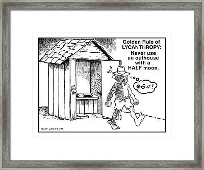 The Horror Of It All Framed Print by Clif Jackson