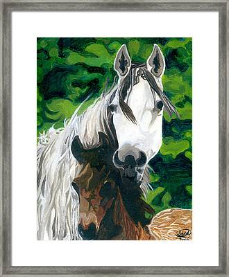 The Horse And Her Foal Framed Print
