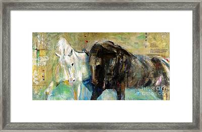 The Horse As Art Framed Print by Frances Marino