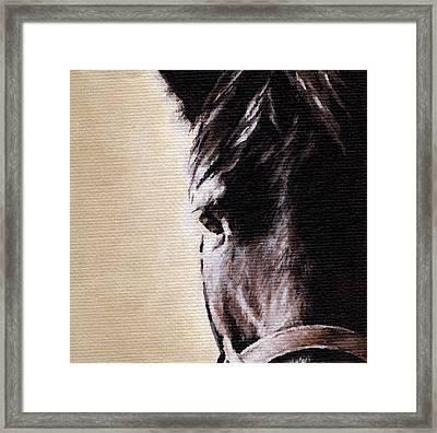 The Horse Framed Print by Natasha Denger