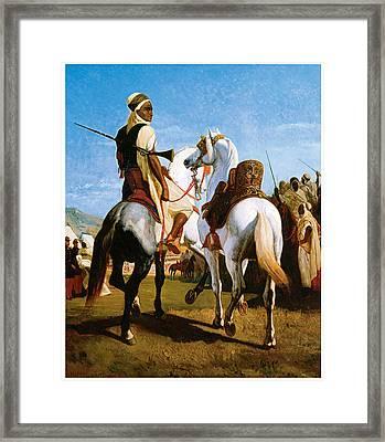 The Horse Of Gaada Framed Print by Eugene ginain