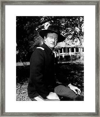 The Horse Soldiers, John Wayne, 1959 Framed Print by Everett