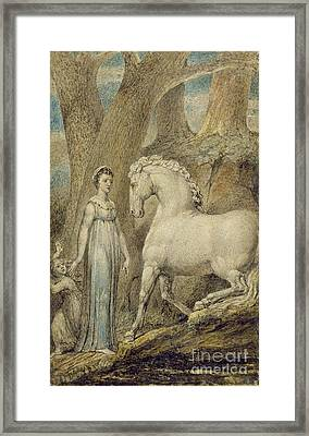 The Horse Framed Print by William Blake
