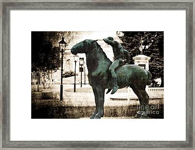 The Horseman Framed Print by Mary Machare