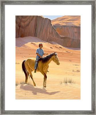 The Horseman Framed Print by Paul Krapf