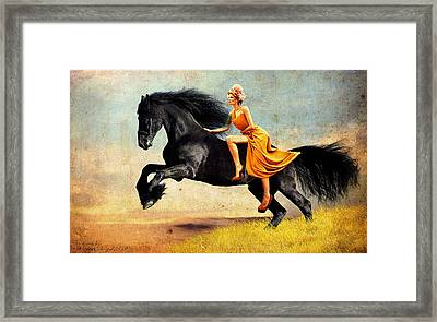 The Horsewoman Framed Print by Rick Buggy