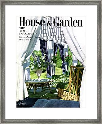 The Horsts Garden Framed Print by Horst P. Horst