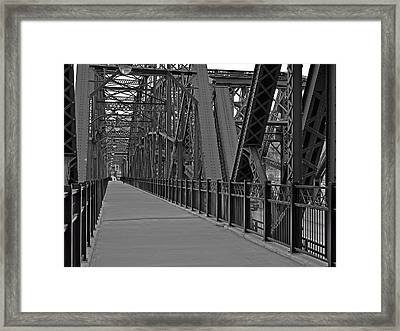 The Hot Metal Bridge In Pittsburgh Framed Print