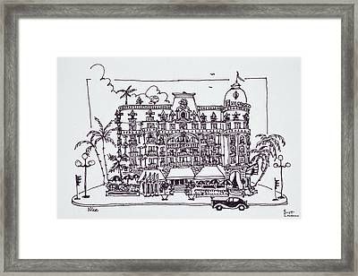 The Hotel Negresco Located Framed Print