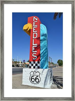 Framed Print featuring the photograph The Hottest Spot On Route 66 by Utopia Concepts