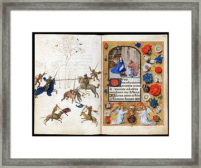 The Hours Of Engelbert Of Nassau Framed Print by Bodleian Museum/oxford University Images