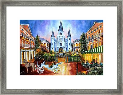 The Hours On Jackson Square Framed Print