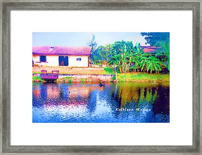 The House Across The Way Framed Print