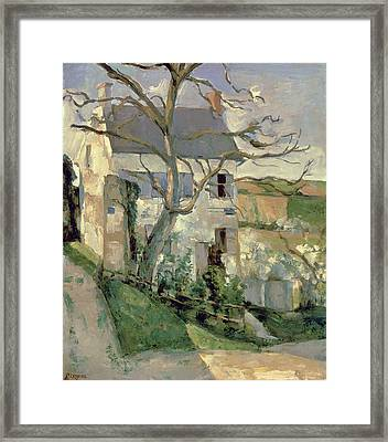 The House And The Tree, C.1873-74 Framed Print by Paul Cezanne