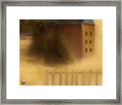 The House Beyond The Fence #c-1 Framed Print by Diane Strain