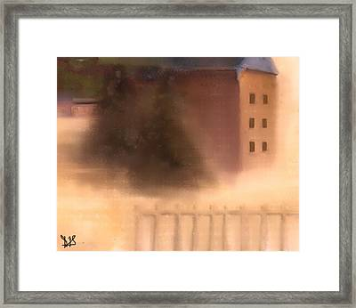The House Beyond The Fence #c-3 Framed Print by Diane Strain