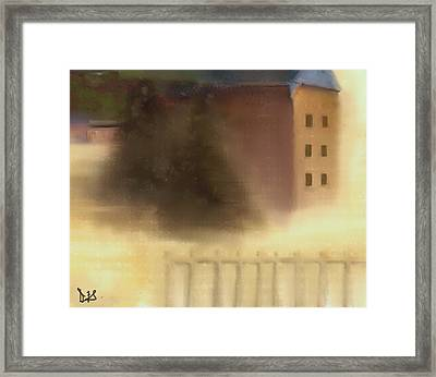 The House Beyond The Fence #c-4 Framed Print by Diane Strain