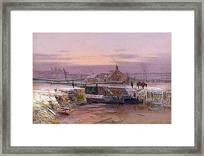 The House By The Canal Framed Print by Charles Brooke Branwhite