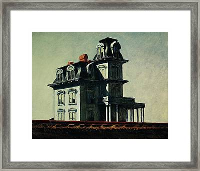 The House By The Railroad Framed Print