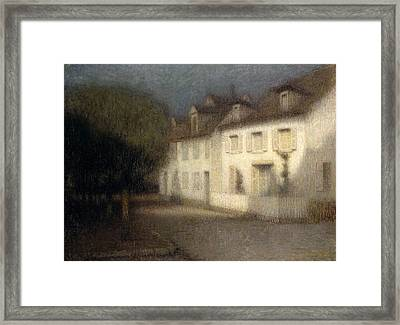 The House Framed Print by Henri Eugene Augstin Le Sidaner