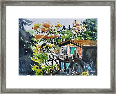 The House Hiding In The Bushes Framed Print