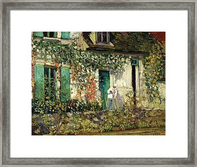 The House In Giverny Framed Print