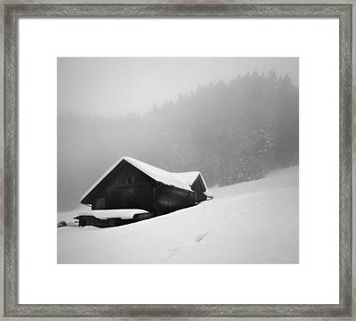 Framed Print featuring the photograph The House In The Mountain by Antonio Jorge Nunes