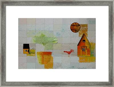 The House Next Door - J055061140-f1c142 Framed Print by Variance Collections