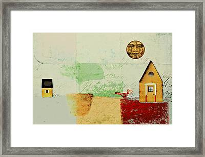 The House Next Door - J191206097-c4f1 Framed Print by Variance Collections