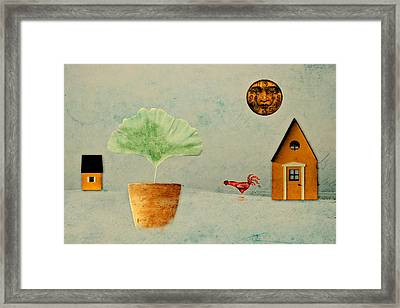 The House Next Door - B11txt2 Framed Print