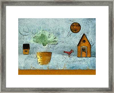 The House Next Door - Vg3b Framed Print by Variance Collections