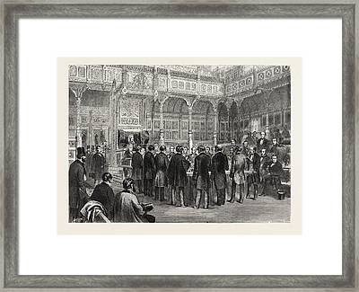 The House Of Commons Swearing-in Of The Members Framed Print by English School
