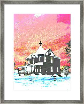 The House Of Haunted Hill Framed Print by Jimi Bush