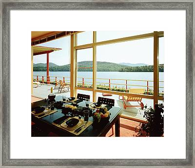 The House Of Mr. And Mrs. Alfred Rose On Lake Framed Print