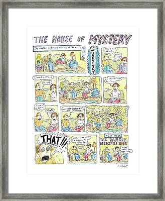 'the House Of Mystery' Framed Print