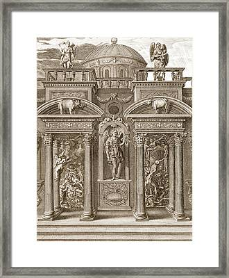 The House Of Sleep, 1731 Framed Print by Bernard Picart