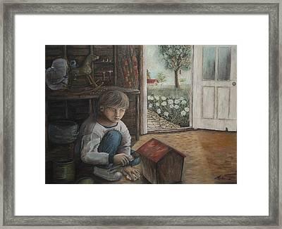 The House Of Swallows - La Maison Des Hirondelles Framed Print