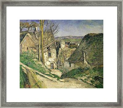 The House Of The Hanged Man, Auvers-sur-oise, 1873 Oil On Canvas For Details See 67878 & 67879 Framed Print by Paul Cezanne