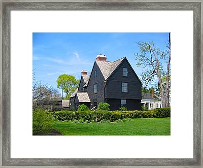 The House Of The Seven Gables Framed Print