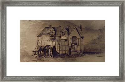 The House Of William Shakespeare Framed Print by Victor Hugo