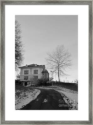 Framed Print featuring the photograph The House On The Hill 2 by Felicia Tica