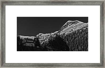 The House On The Hill. Framed Print