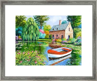 The House Pond Framed Print by Jean-Marc Janiaczyk