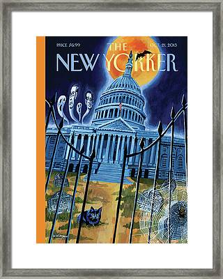 The House Republicans Haunt The Captiol Building Framed Print by Mark Ulriksen