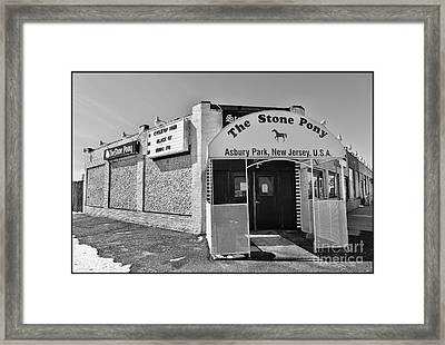 The House That Bruce Built II - The Stone Pony Framed Print by Lee Dos Santos