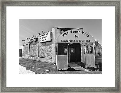 The House That Bruce Built - The Stone Pony Framed Print by Lee Dos Santos